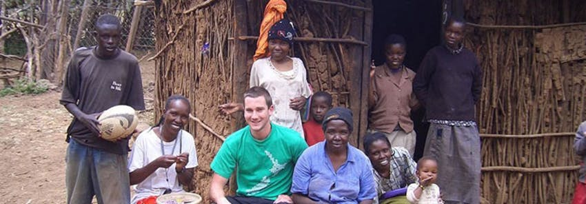 International Volunteer HQ's Dan Radcliffe as a volunteer in Kenya