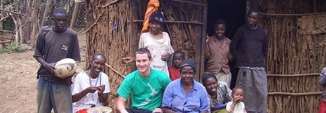 International Volunteer HQ's Dan Radcliffe as a volunteer in Kenya