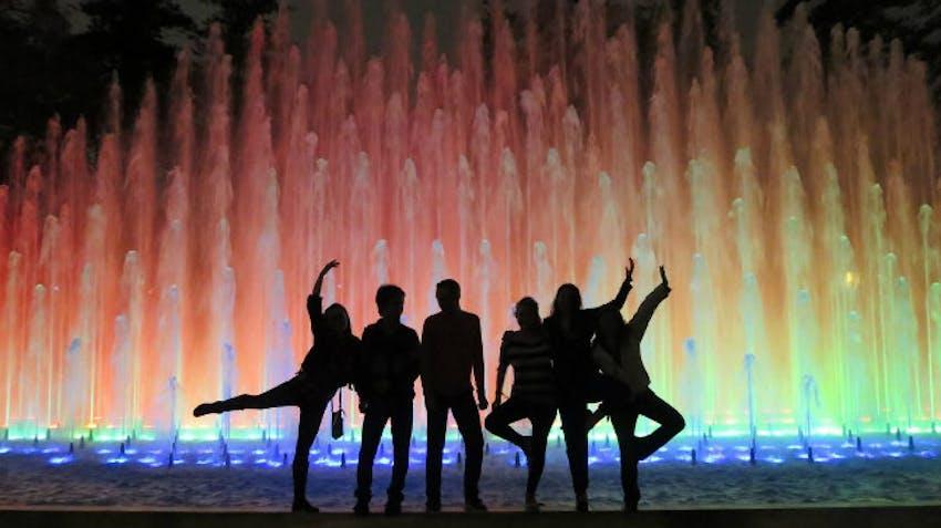 Visiting El Circuito Mágico del Agua as an IVHQ volunteer abroad