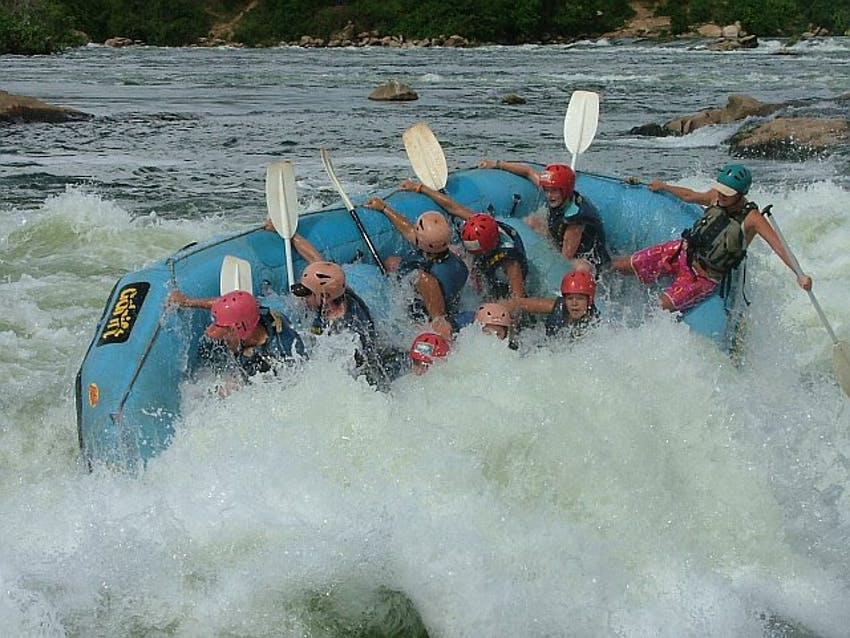 White Water Rafting in Uganda with IVHQ