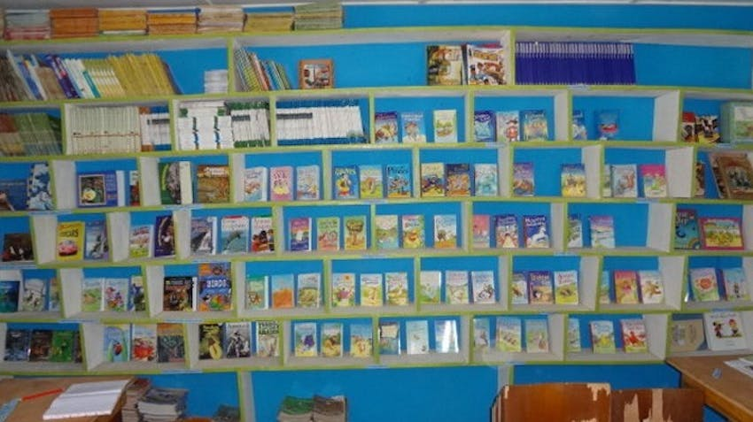 Books donated by IVHQ Volunteer of the Year Finalist, Kristian