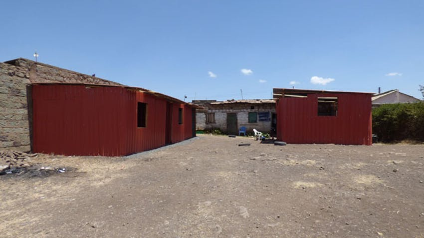 The finished classroom, built by IVHQ Volunteer of the Year Cara Lawler