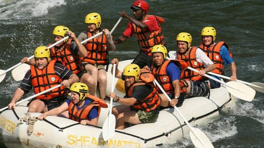 Go water water rafting as an IVHQ volunteer in Victoria Falls