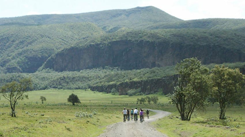 Visiting Hells Gate National park as an IVHQ volunteer in Kenya