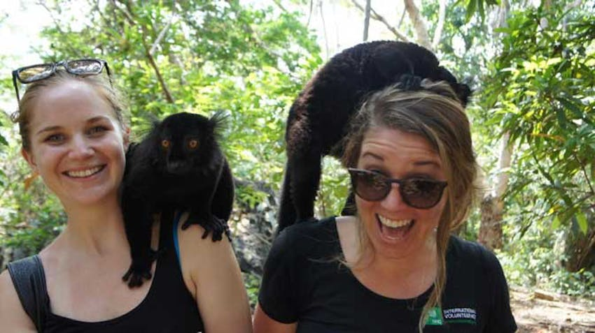 Visit a Lemur park in Madagascar with IVHQ