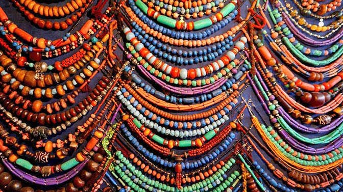 Marrkech Medina beads from the markets