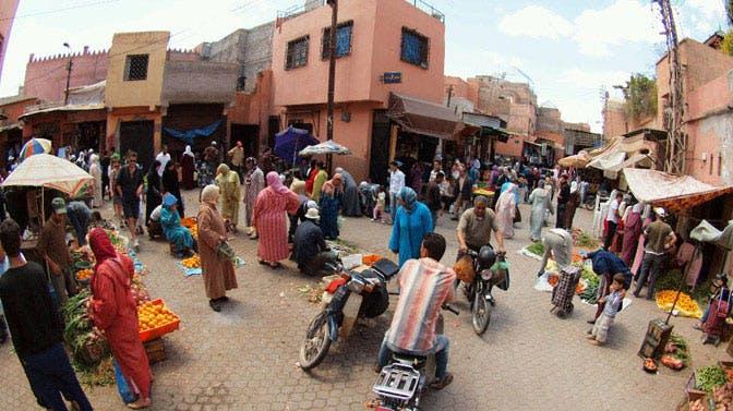Visiting the Marrakech markets as an IVHQ volunteer