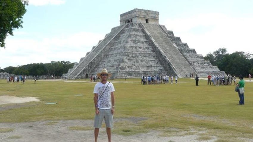 Visiting Chichen Itza as an IVHQ volunteer in Mexico