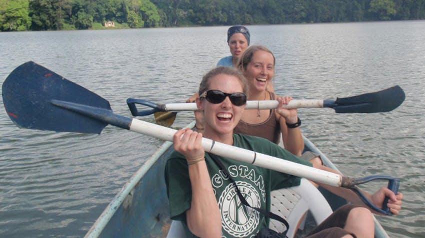 Visiting Lake Duluti as a IVHQ volunteer in Tanzania