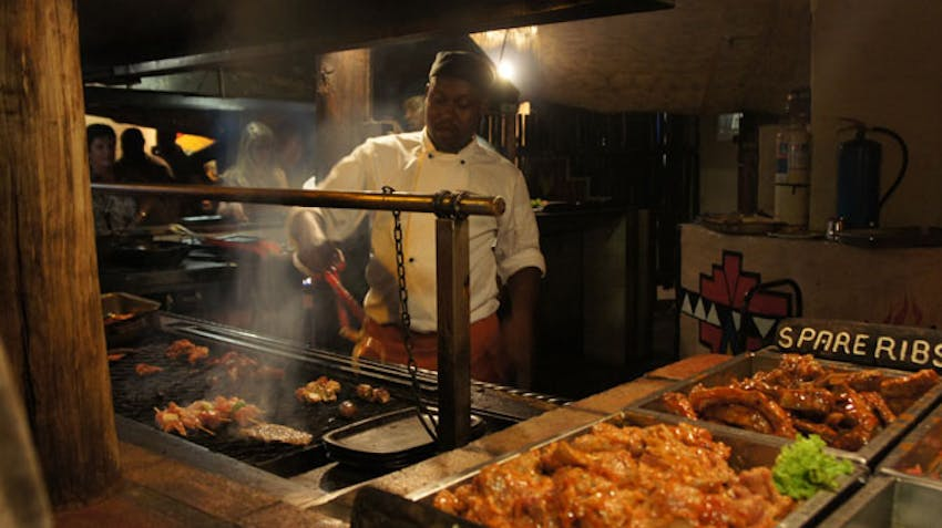 Eat at the Boma in Victoria Falls
