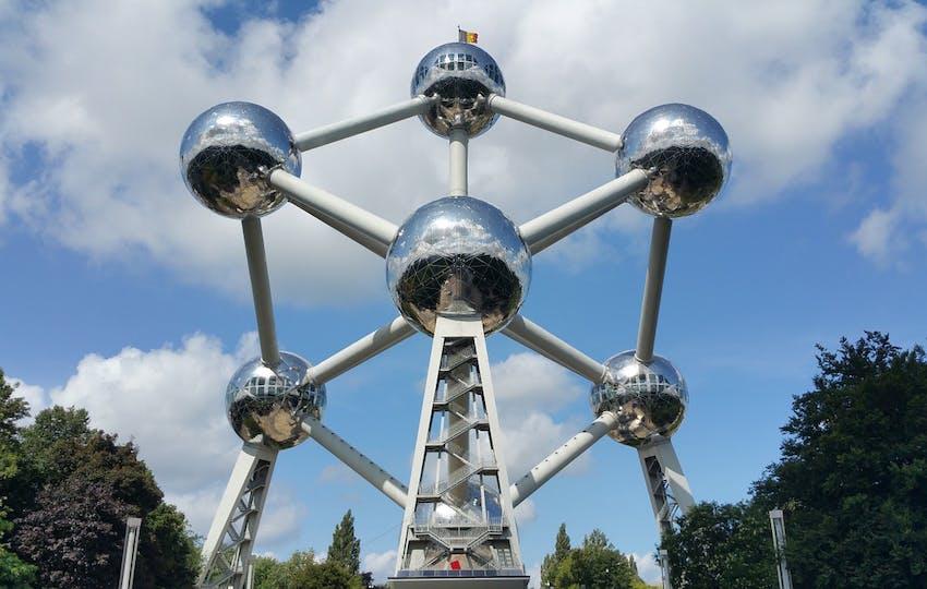 Visiting the Atomium with IVHQ in Belgium