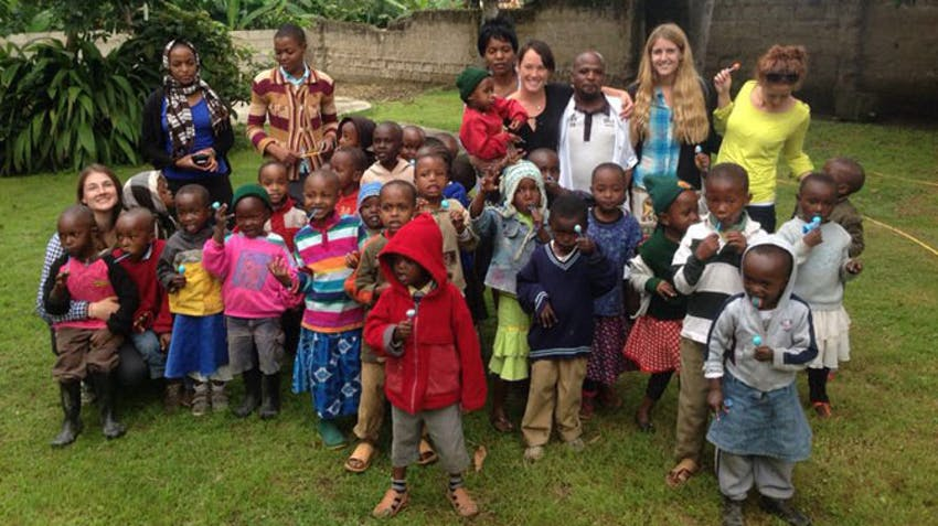 The children of Upendo Face Orphanage in Tanzania