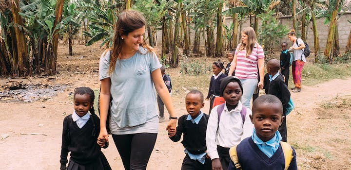 Volunteer on the Childcare project in Tanzania with IVHQ